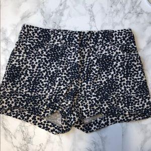 Loft Size 4 Blue Polka Dot Shorts